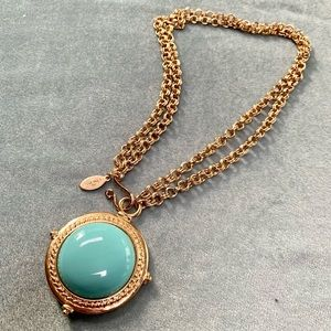 Chico's Reversible Pendant Gold Tone Versatile Chain necklace
